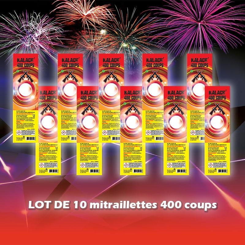 Lot de 10 mitraillettes 400 coups